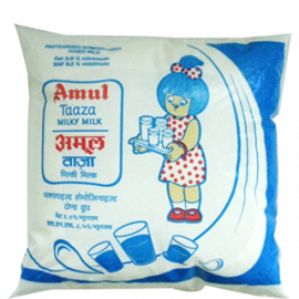 Buy Amul Fresh Milk - 25% Milk Fat Low Fat, 500 ml online in Durgapur