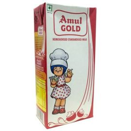 Amul Gold Homogenised Standardised Milk, 1 L