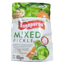 Annapurna Mixed Pickel 60 gm Pouch