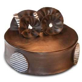 Online Cake Delivery in Durgapur | Chocolate Cake - Round Small (Eggless)  | Mio Amore Durgapur