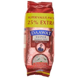 Daawat Super Basmati Rice, 1kg With 25% Extra