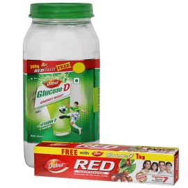 Dabur Glucose D - 1 kg (Free Toothpaste Rs. 95)