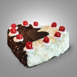 Buy Dual Forest Heart Large Cake | Online Cake Delivery in Durgapur | Mio Amore Durgapur