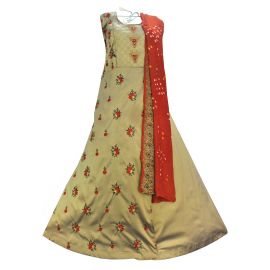 Embellished Poly Silk Semi Stitched  Gown  | Kurti & Lahnga Choli in Durgapur