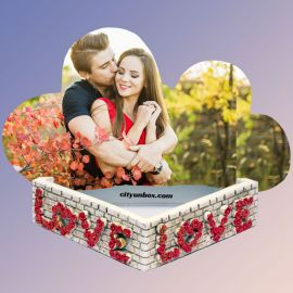 Love Forever Wooden Printed Photo Frame