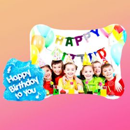 Happy Birthday Wooden Printed Photo Frame