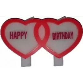 Heart Shaped Birthday Candle - 1 Piece