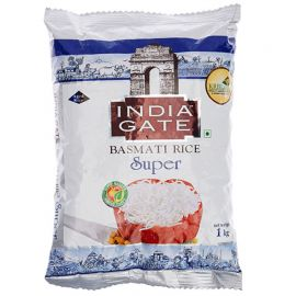 India Gate Basmati Rice Super, 1kg Extra 25%