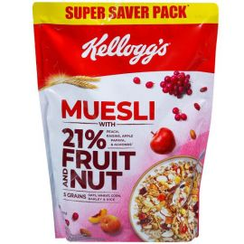 Kellogg's Muesli with 21% Fruit, Nut & Seeds  (750 g, Pouch)