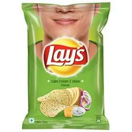 Lays Potato Chips - Calm Cream & Onion Flavour