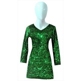 Long sleeve cocktail dress green | Party Wear