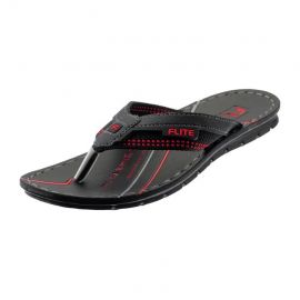 PU Flite Black Gents Casuals Slippers