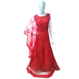 Red Gown - Trendy Red Gown Online in Durgapur | Party Wear in Durgapur