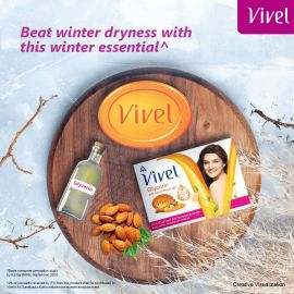 Vivel Glycerine Soap 100 gm x 3  + 1 FREE