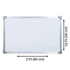 White Board Non Magnetic, Lightweight With Aluminium Frame ( 2 x 1.5 Feet )