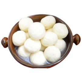 White Rasgulla - 6 Pieces ( Medium Size )